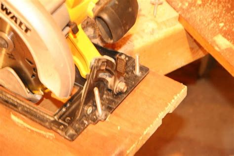 turning a circular saw to table saw convert a held circular saw into a table saw 5