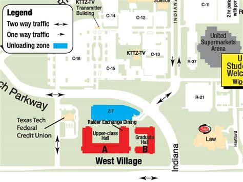 texas tech dorms map texas tech university university student housing