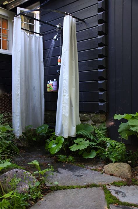 outdoor shower curtains what were the skies like outdoor shower garden