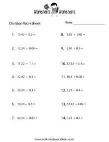 decimal division worksheet free printable educational