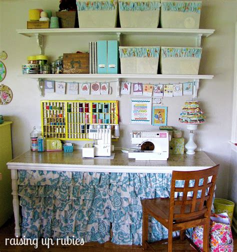 sewing table craft storage ideas