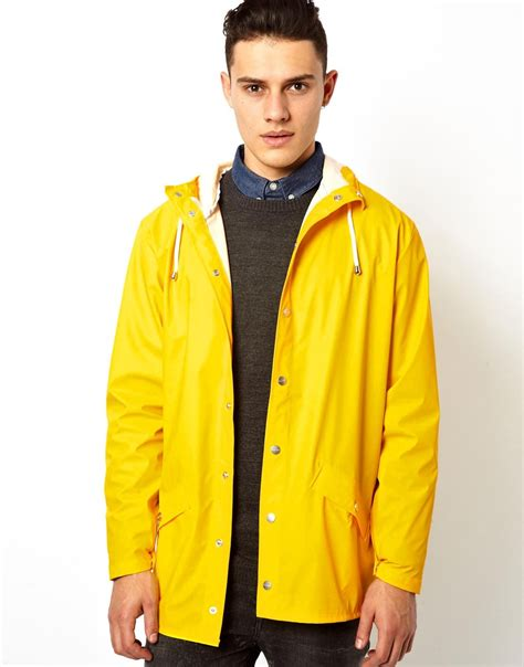 Jaket Yellow lyst rains jacket in yellow in yellow