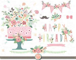 flower cards for birthdays flower birthday clip quot floral birthday quot clipart