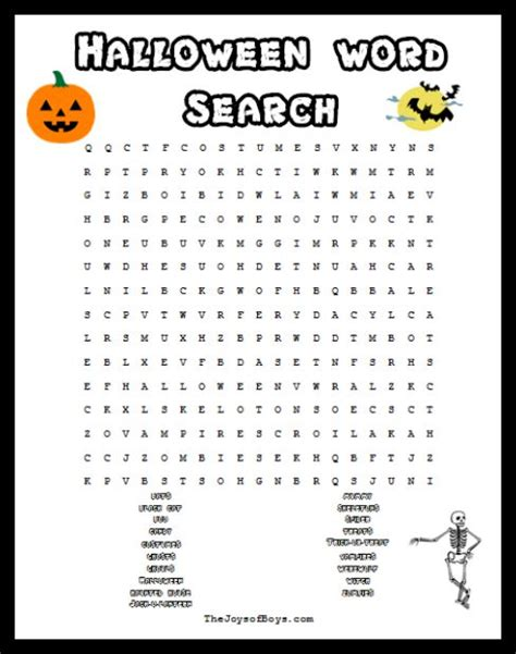 printable word search halloween halloween word search spooky fun for a halloween party