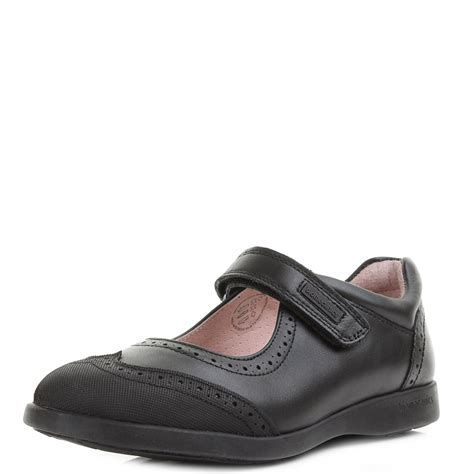 school shoes garvalin brenda black leather velro