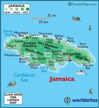jamaica latitude, longitude, absolute and relative