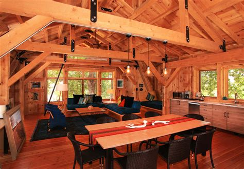 Interior Design For Log Homes elegant barn homes with covered porch and upper deck 3