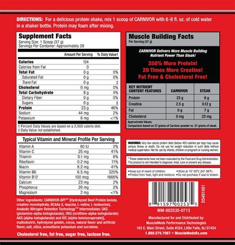 Carnivor Whey Protein meds carnivor beef protein 2lb 28 servings