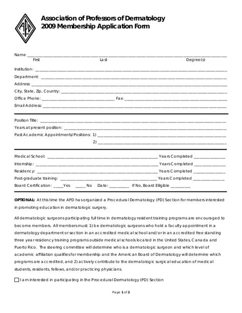 Sle Application Form Word Document