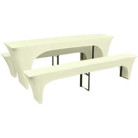 table slipcover vidaxl three piece slipcover for beer table benches