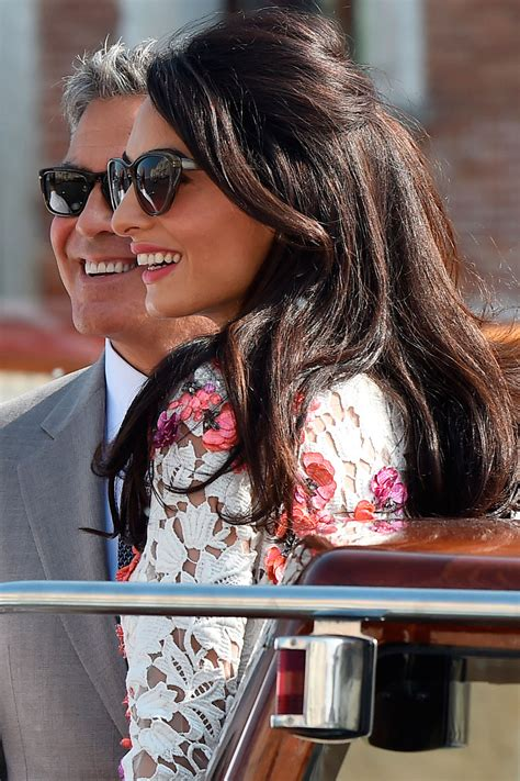 is amal clooney hair one length amal clooney celebrity beauty inspiration harper s