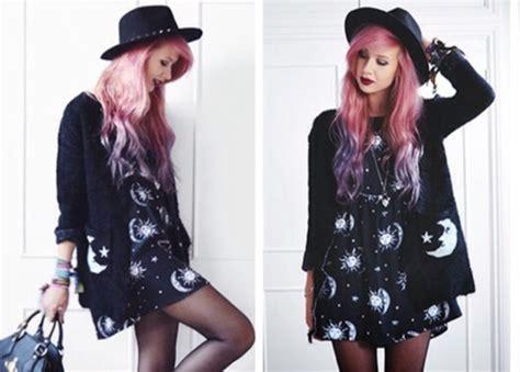 Kawaii Cardigan Outer dress black black dress casual dress space