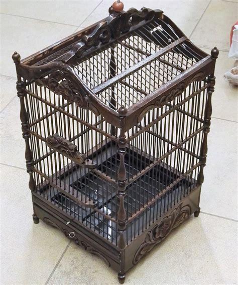 gabbie antiche per uccelli gabbia in legno antico per uccellini artigianali nero