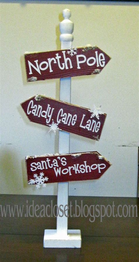 idea closet more christmas projects christmas sign post