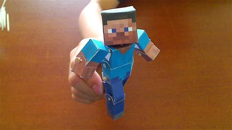 How To Make Minecraft Steve Out Of Paper - how to make a minecraft papercraft bendable steve