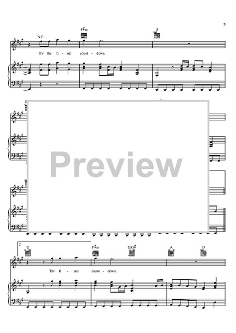 tutorial piano the final countdown final countdown sheet music music for piano and more