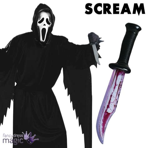 scream knife official licensed adults ghostface scream fancy dress