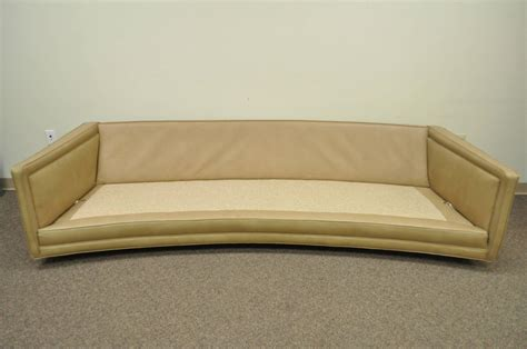 long sofas for sale long curved harvey probber button tufted leather mid century modern sofa for sale at 1stdibs