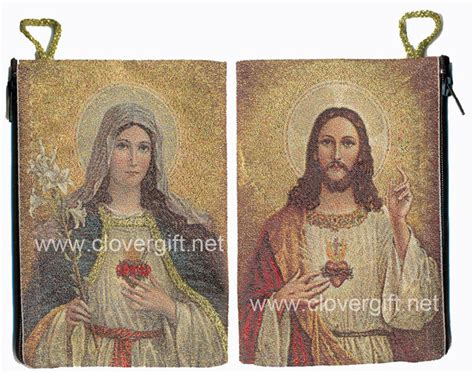 sacred material the of the tapestries of the cathedral of our of the books woven rug rosary pouch catholic rosary cases pouches