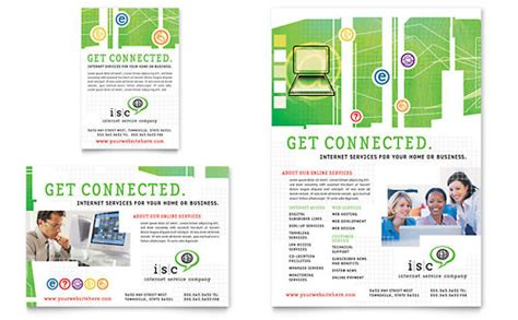 It Services Brochure Template by Isp Service Flyer Ad Template Design