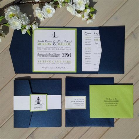 navy blue and green wedding invitations nautical wedding invitations navy and lime green wedding invitations wedding invitations