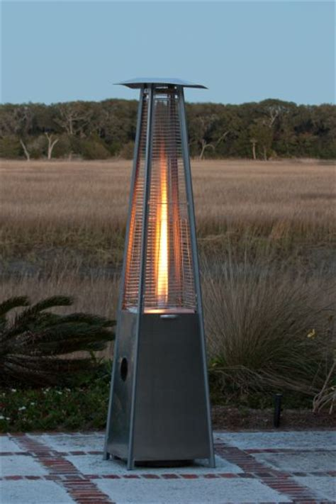 Pyramid Gas Patio Heater Sense Stainless Steel Pyramid Propane Gas Patio Heater