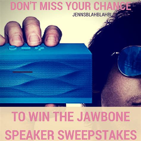 Enter To Win Sweepstakes 2014 - enter to win the jawbone speaker sweepstakes 2 winners