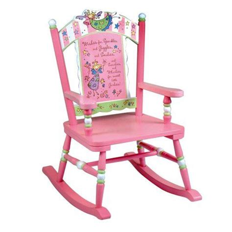 pink and white glider chair levels of discovery wishes rocker pink white