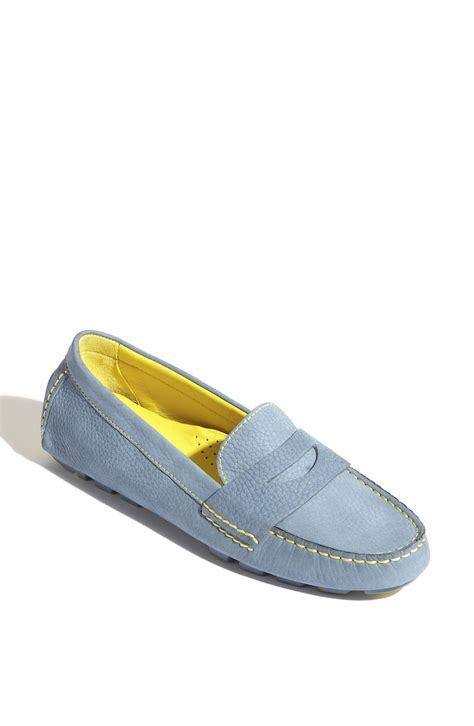 cole haan driving shoes cole haan air driving moccasin in blue harbour blue
