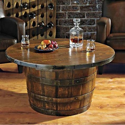 whiskey barrel table  home design garden