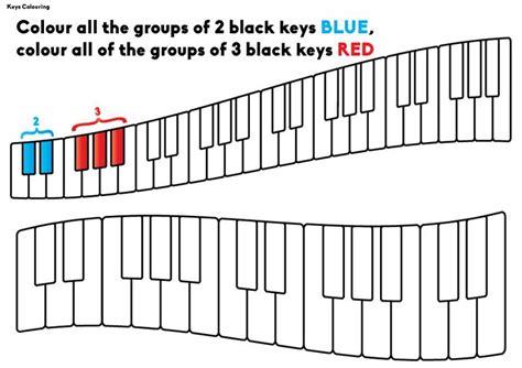 coloring page piano keys piano keyboard chart coloring coloring pages