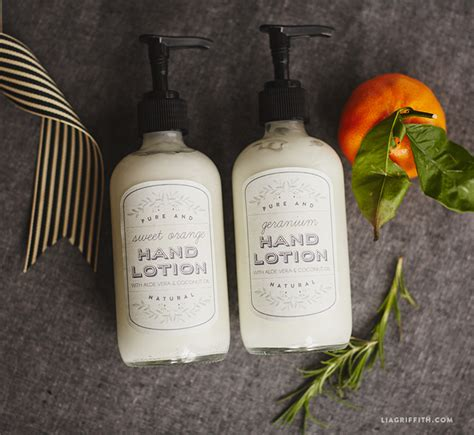lotion with printable labels lia griffith