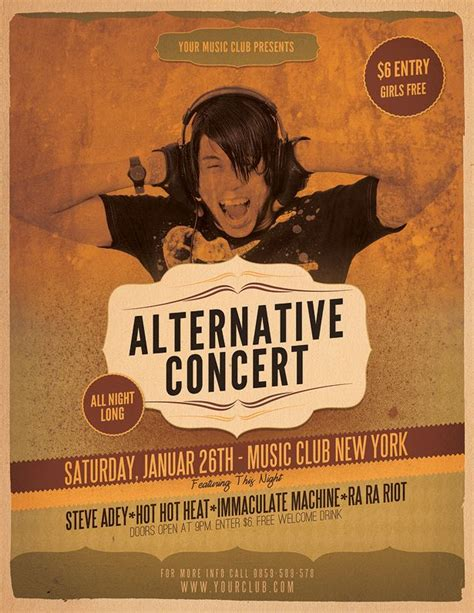 7 Best Gig Posters Images On Pinterest Concert Posters Design Posters And Event Flyers Concert Flyer Template
