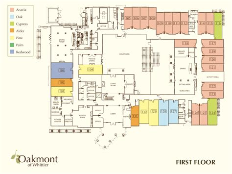 best retirement home plans retirement community whittier first floor oakmont of
