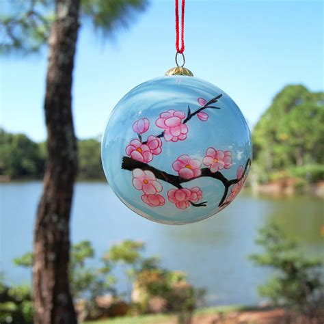 japanese ornament glass ornament cherry blossoms morikami museum and