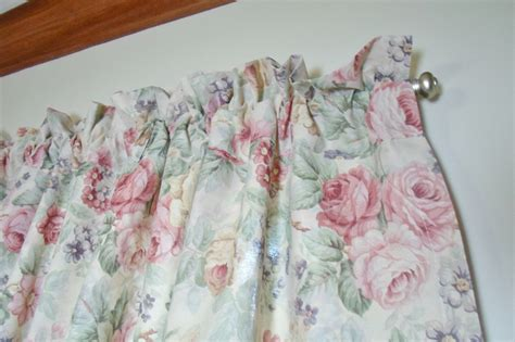top 28 shabby chic valance pair vintage victorian rose shabby cottage chic ivory lace