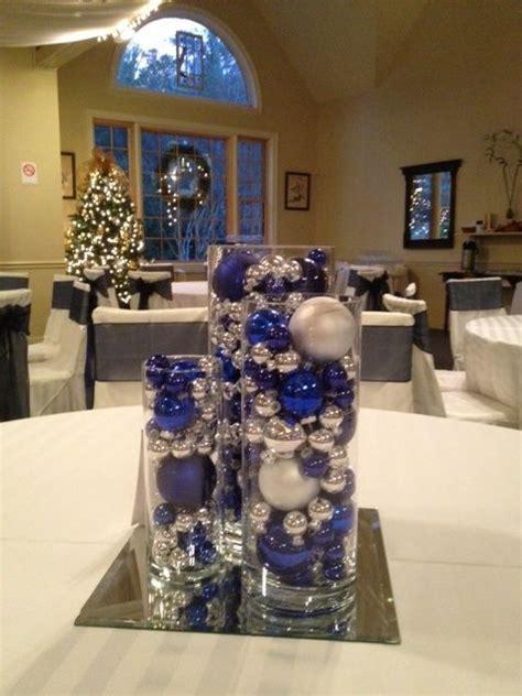 silver table centerpieces best 25 royal blue centerpieces ideas on blue