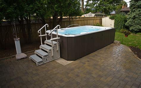 swim spa backyard designs swim spa installation ideas brady s pool spa