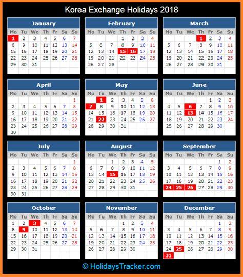 new year holidays in south korea korea exchange holidays 2018 holidays tracker