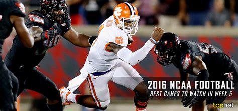 best football best college football to 2016 ncaa season week 5