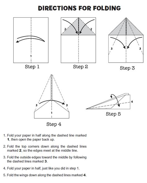 Directions For A Paper Airplane - welcome to dover publications