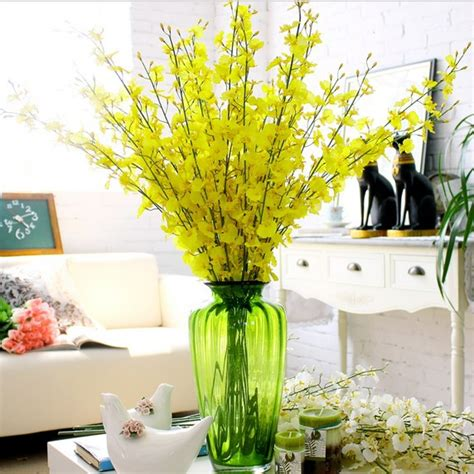 Vase Without Flowers 10pcs lot free shipping bountyless oncidium artificial