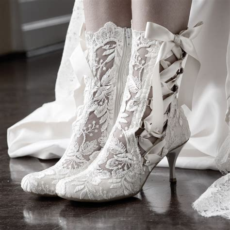 Wedding Shoes And Boots by Vintage Lace Wedding Boots