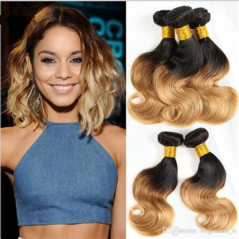 pics of short hair with weave clips cheap 8a brazilian ombre hair extensions two tone 1b 27