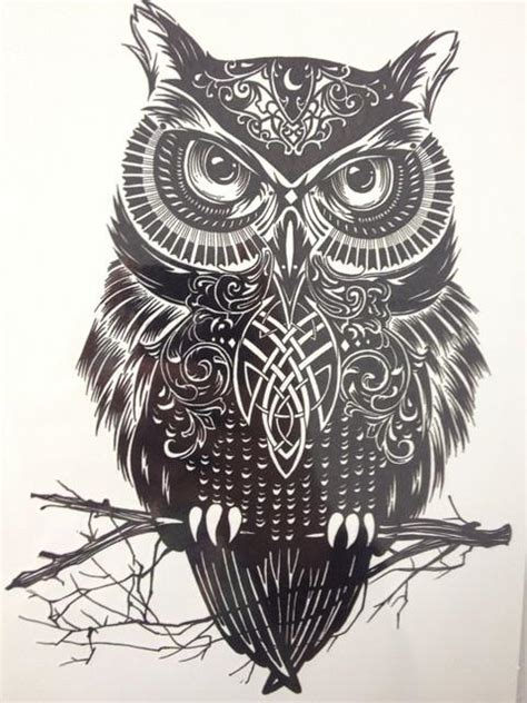 black and white owl tattoo black and white owl sticker eleven gift