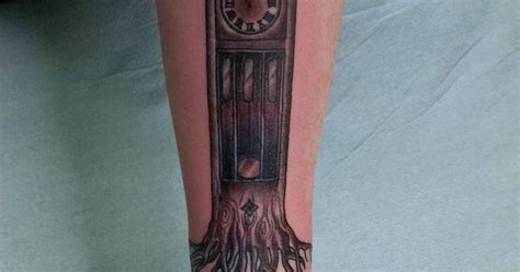family heirloom tattoo family heirloom timepiece grandfather clock tattoo with