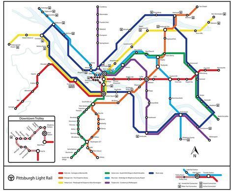 subway system map pittsburgh subway map my