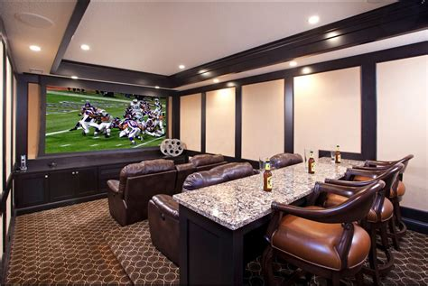 basement theater room house pinterest