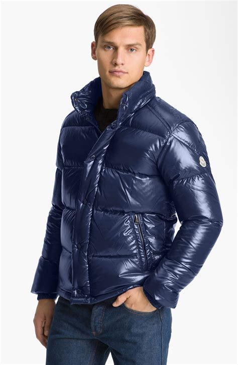 Moncler Quilted Puffer Jacket by Moncler Quilted Puffer Jacket In Blue For Navy