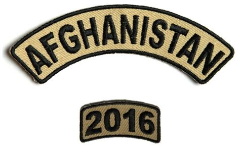 Patch Set 2016 T0310 afghanistan 2016 service year patch set afghan war patches thecheapplace